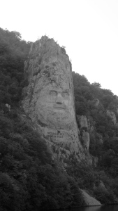 Decebal´s face sculptured in stone